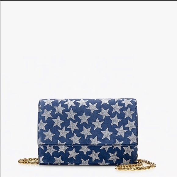 J. Crew Handbags - J. Crew   100% Leather blue crossbody shimmer star